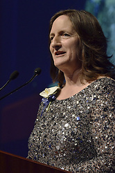 Nancy Cahill '79, Honoree, Blue Leader '11, Yale University Athletics. Ball and Awards Presentation, Lanman Center, Payne Whitney Gymnasium.