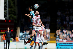 Randell Williams of Wycombe Wanderers heads the ball under pressure from Danny Newton of Stevenage - Mandatory by-line: Jason Brown/JMP - 05/05/2018 - FOOTBALL - Adam's Park - High Wycombe, England - Wycombe Wanderers v Stevenage - Sky Bet League Two