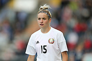 Anastasia Shuppo (#15) of Belarus during the FIFA Women's World Cup UEFA Qualifier match between Scotland Women and Belarus Women at Falkirk Stadium, Falkirk, Scotland on 7 June 2018. Picture by Craig Doyle.