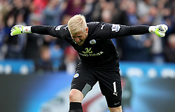 Leicester City's Kasper Schmeichel celebrates - Photo mandatory by-line: Robbie Stephenson/JMP - Mobile: 07966 386802 - 09/05/2015 - SPORT - Football - Leicester - King Power Stadium - Leicester City v Southampton - Barclays Premier League