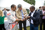 Lewis Hamilton; Arnaud Bamberger; Antony Hamilton.  and Nicole Scherzinger, The Cartier Style et Luxe Concours lunch at the Goodwood Festival of Speed. July 13, 2008  *** Local Caption *** -DO NOT ARCHIVE-© Copyright Photograph by Dafydd Jones. 248 Clapham Rd. London SW9 0PZ. Tel 0207 820 0771. www.dafjones.com.