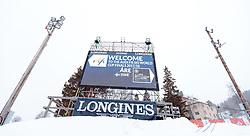 12.03.2018, Are, SWE, FIS Weltcup Ski Alpin, Finale, Vorberichte, im Bild das 1. Abfahrtstraining der Damen und Herren wurde aufgrund der Wettersituation abgesagt // the first downhill training of the ladies and men was canceled due to the weather situation during preperation prior to the FIS ski alpine world cup finals in Are, Sweden on 2018/03/12. EXPA Pictures © 2018, PhotoCredit: EXPA/ Johann Groder