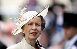 The Princess Royal during day one of Royal Ascot at Ascot Racecourse.