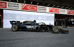 The Haas 2019 livery presentation at the Barcelona Catalunya racetrack during day one of pre-season testing at the Circuit de Barcelona-Catalunya.