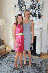 Left to right, MARIA HATZISTEFANIS and SANTA SEBAG-MONTEFIORE at a party hosted by Maria Hatzistefanis to celebrate the publication of Santa Montefiore's new book 'The Affair' held at 35 Walpole Road, London on 27th April 2010.
