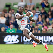DUBLIN, IRELAND:  September 25:   Madosh Tambwe #11 of the Bulls in action during the Leinster V Bulls, United Rugby Championship match at Aviva Stadium on September 25th, 2021 in Dublin, Ireland. (Photo by Tim Clayton/Corbis via Getty Images)