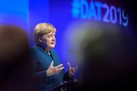 12 NOV 2019, BERLIN/GERMANY:<br /> Angela Merkel, CDU, Bundeskanzlerin, haelt eine Rede, Deutscher Arbeitgebertag 2019, Bundesverband Deutscher Arbeitgeber, BDA, Estrell Convention Center<br /> IMAGE: 20191112-01-175