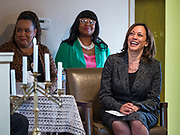10 NOVEMBER 2019 - FT. DODGE, IOWA: US Senator KAMALA HARRIS (D-CA) during services at 2nd Baptist Church Sunday.  Sen. Harris taught a biblical lesson at 2nd Baptist Church in Ft. Dodge as a part of her campaign to be the Democratic nominee for the US presidency in 2020. Iowa traditionally holds the first selection of the presidential election cycle. The Iowa caucuses are Feb. 3, 2020.        PHOTO BY JACK KURTZ