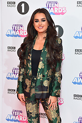 Amber Davies attending the BBC Radio 1 Teen Wards, at Wembley Arena, London. Picture date: Sunday October 22nd, 2017. Photo credit should read: Matt Crossick/ EMPICS Entertainment.