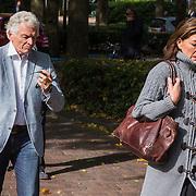NLD/Laren/20130102 - Uitvaart John de Mol Sr., Ben Cramer en partner Carla van der Waal