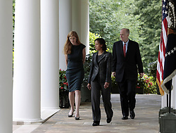 59781730  <br /> US Ambassador to the UN Susan Rice (C) walks to the Rose Garden of the White House in Washington D.C., the United States, June 5, 2013. U.S. President Barack Obama on Wednesday tapped UN ambassador Susan Rice to be the next national security advisor, taking the post vacated by Tom Donilon, who has resigned, DC, USA , June 5, 2013 .UK ONLY