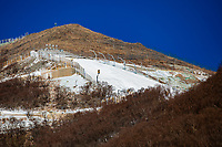 Photos show the National Alpine Skiing Center, the site of the Beijing Winter Olympics at Xiaohaituo Mountain in Yanqing District, Beijing, China, 11 January 2021. It passes the site inspection certification of the International Snow Federation and is ready to hold the competition.