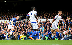 Everton's Steven Naismith scores his sides second goal to make it 2-0  - Mandatory byline: Matt McNulty/JMP - 07966386802 - 12/09/2015 - FOOTBALL - Goodison Park -Everton,England - Everton v Chelsea - Barclays Premier League