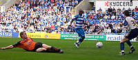 Photo: Daniel Hambury.<br />Reading v Ipswich Town. Coca Cola Championship.<br />16/10/2005.<br />Reading's Leroy Lita looks on as Ipswich's Richard Naylor scores an own goal.