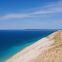 """Sleeping Bear Dunes""1<br /> <br /> Wonderful deep blue waters of Lake Michigan, and beautiful sand dunes at Sleeping Bear Dunes National Lake Shore in Michigan!"