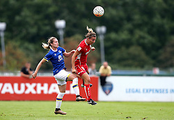 Grace McCatty defender for Bristol City Women heads the ball clear from Claudia Walker of Everton Ladies - Mandatory by-line: Robbie Stephenson/JMP - 27/08/2016 - FOOTBALL - Stoke Gifford Stadium - Bristol, England - Bristol City Women v Everton Ladies - FA Women's Super League 2