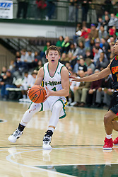 31 December 2015:  2016 State Farm Holiday Classic Large School Boys Championship game between the University High School Pioneers and the Rock Island Rocks at Shirk Center in Bloomington Illinois
