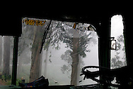 Through a bus window, somewhere in Tamil Nadu, India.