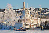 SS Klondike Historial Site on the banks of the Yukon River.