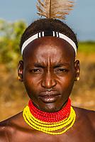 Dassanach tribe man, Omo Valley, Ethiopia.