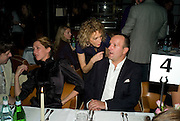MARGOT STILLEY, SARAH WOODHEAD AND SIMON LEE, Dinner after the opening of Larry Clark. Los Angeles 2003- 2006. Simon Lee Gallery.  17 Berkeley st. London. 5 February 2008.  *** Local Caption *** -DO NOT ARCHIVE-© Copyright Photograph by Dafydd Jones. 248 Clapham Rd. London SW9 0PZ. Tel 0207 820 0771. www.dafjones.com.