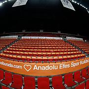 Anadolu Efes's and Pinar Karsiyaka's during their Turkish Basketball Spor Toto Super League match Anadolu Efes between Pinar Karsiyaka at the Abdi ipekci arena in Istanbul, Turkey, Monday 09, November 2015. Photo by Aykut AKICI/TURKPIX