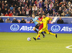 STYLEPREPENDArtur (8) of Columbus Crew SC controls ball during 2nd leg MLS Cup Eastern Conference semifinal game against Red Bulls at Red Bul Arena Red Bulls won 3 - 0  (Credit Image: © Lev Radin/Pacific Press via ZUMA Wire)