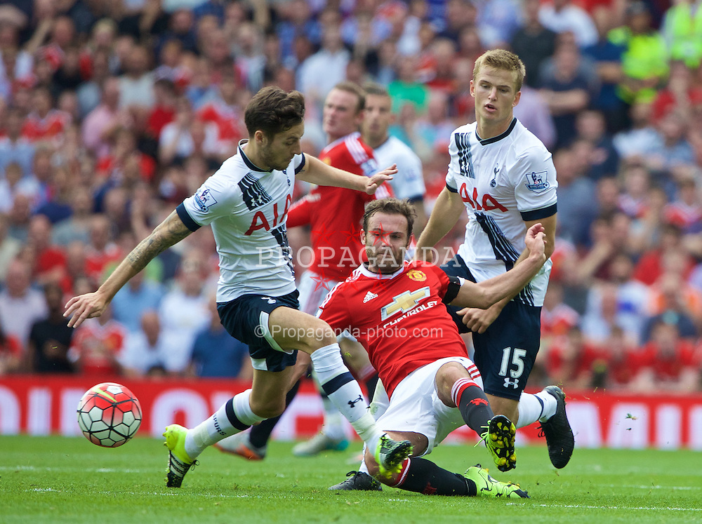 MANCHESTER, ENGLAND - Saturday, August 8, 2015: Manchester United's Juan Mata in action against Tottenham Hotspur during the Premier League match at Old Trafford. (Pic by David Rawcliffe/Propaganda)