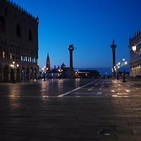 Blue hour and sunrise in Venice