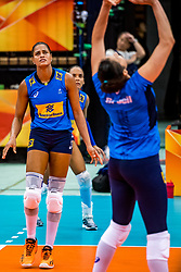 06-10-2018 JPN: World Championship Volleyball Women day 7, Nagoya<br /> Press conference coaches group Nagoya after training day for Netherlands and Brazil / Adenizia Da Silva #5 of Brazil