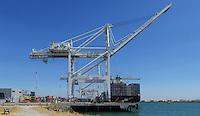 Port of Oakland Cranes and Cargo Ship. (41201 x 23852 pixels)