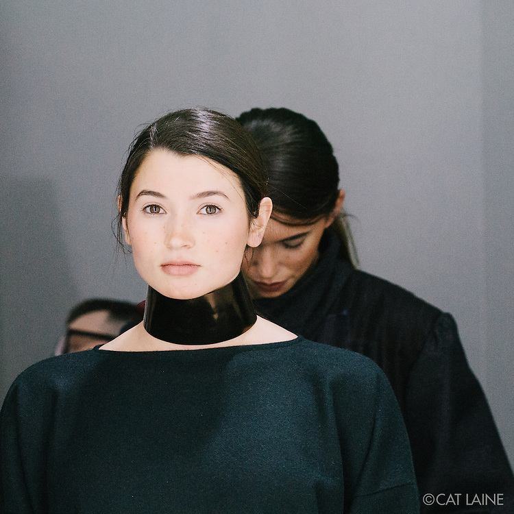 PROVIDENCE, RI - FEB 23: Backstage at the Susan Troy show during StyleWeek NorthEast on February 23, 2016 in Providence, Rhode Island. (Photo by Cat Laine)