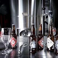 Nederland, Amsterdam , 31 januari 2013.<br /> Bierbrouwerij 't IJ breidt uit.<br /> Een paar honderd meter van hun oorspronkelijke brouwerij hebben ze een 2e locatie gevonden om bier te brouwen en wel aan het Zeeburgerpad, met veel ruimte vol geavanceerde apparatuur om hun bier te brouwen.<br /> Beers of local special beer brewery 't IJ Amsterdam.