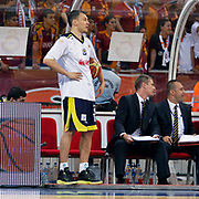 Fenerbahce Ulker's Sarunas JASIKEVICIUS (L) during their Turkish Basketball league Play Off Final fourth leg match Galatasaray between Fenerbahce Ulker at the Abdi Ipekci Arena in Istanbul Turkey on Saturday 11 June 2011. Photo by TURKPIX