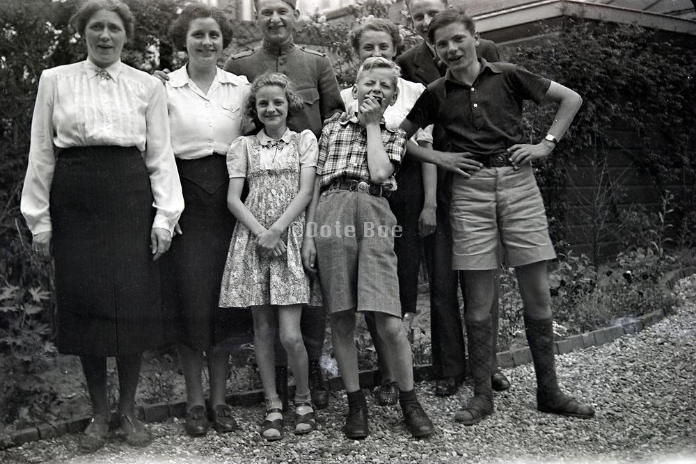 happy family group portrait 1950s Netherlands