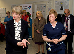 Scottish Health Secretary Shona Robison meets with staff at the Victoria Hospital in Kirkcaldy to announce £5 million GBP extra funding for NHS services in Scotland to help with tackling the increased strain on health services during the winter months.<br /> <br /> © Dave Johnston/ EEm