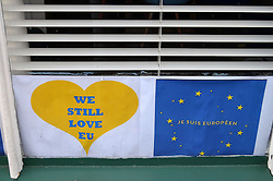 Pro EU posters following Brexit referendum, Norfolk June 2016 UK