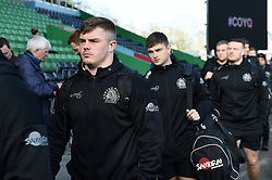 Jordon Poole and the rest of the Exeter Chiefs team arrive at the Stoop - Mandatory byline: Patrick Khachfe/JMP - 07966 386802 - 29/02/2020 - RUGBY UNION - The Twickenham Stoop - London, England - Harlequins v Exeter Chiefs - Gallagher Premiership