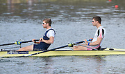 Caversham  Great Britain.<br /> GBR M2- Bow Peter REED and Constantine LOULOUDIS, starting their run at the  2016 GBR Rowing Team Olympic Trials GBR Rowing Training Centre, Nr Reading  England.<br /> <br /> Tuesday  22/03/2016 <br /> <br /> [Mandatory Credit; Peter Spurrier/Intersport-images]