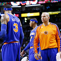 26 March 2013: New York Knicks point guard Jason Kidd (5) talks to New York Knicks power forward Kenyon Martin (3) during the New York Knicks 100-85 victory over the Boston Celtics at the TD Garden, Boston, Massachusetts, USA.