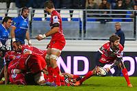 Teddy Iribaren- 28.12.2014 - Castres / Montpellier - 14eme journee de Top 14 <br />Photo :  Laurent Frezouls / Icon Sport