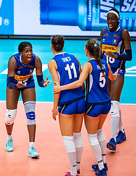 19-10-2018 JPN: Semi Final World Championship Volleyball Women day 18, Yokohama<br /> China - Italy / Miryam Fatime Sylla #17 of Italy, Paola Ogechi Egonu #18 of Italy