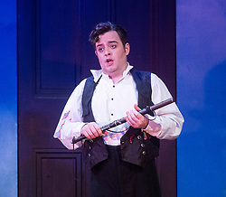 The Magic Flute <br /> Music by Mozart <br /> Welsh National Opera, Wales Millennium Centre, Cardiff, Wales, Great Britain <br /> 13th February 2019 <br /> Directed by Dominic Cooke <br /> <br /> Ben Johnson as Tamino<br /> <br /> Photograph by Elliott Franks