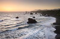 Sunset view of Sonoma Coast California