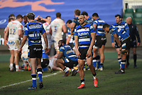 Rugby Union - 2020 / 2021 Gallagher Premiership - Round 12 - Bath vs Exeter Chiefs - Recreation Ground<br /> <br /> Bath Rugby's Jonathan Joseph dejected as Exeter Chiefs' Sam Skinner scores his sides fourth try.<br /> <br /> COLORSPORT/ASHLEY WESTERN