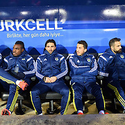 Fenerbahce's players during their Turkish Super League soccer match Caykur Rizespor between Fenerbahce at the Yeni Rize Sehir stadium in Rize Turkey on Saturday, 04 April 2015. Photo by TVPN/TURKPIX
