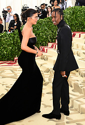 Kylie Jenner and Travis Scott attending the Metropolitan Museum of Art Costume Institute Benefit Gala 2018 in New York, USA.