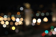 Blurred view of the lights of Pont Alexandre III, Paris at night