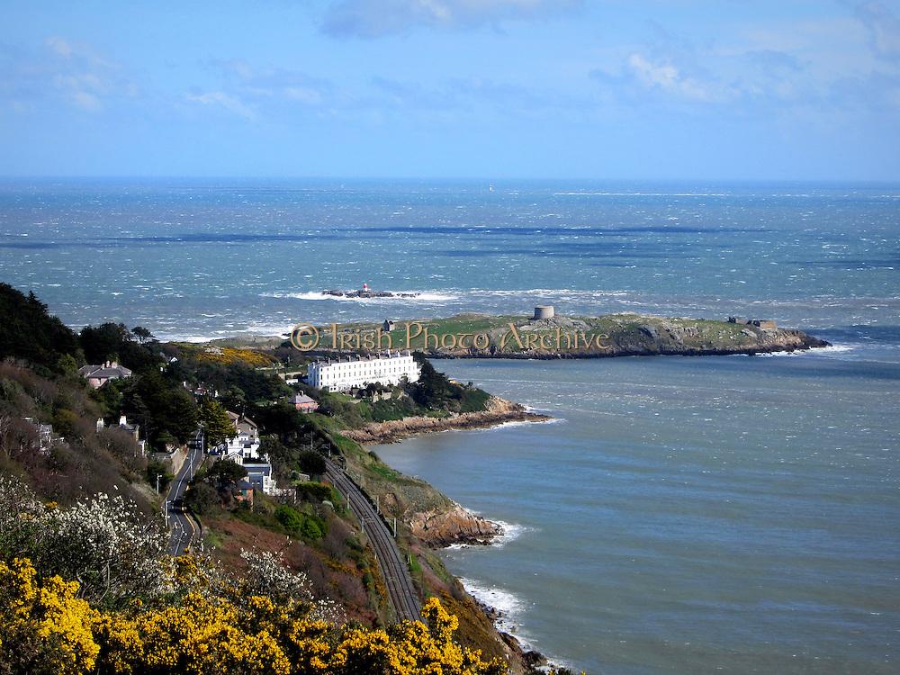Dalkey Island, South County Dublin. Irish sea.
