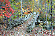 Wooden bridge at Crab Tree falls in Nelson County, Va.